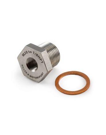 M20 (OEM) to 1/8NPT Oil Temperature Sensor Adapter
