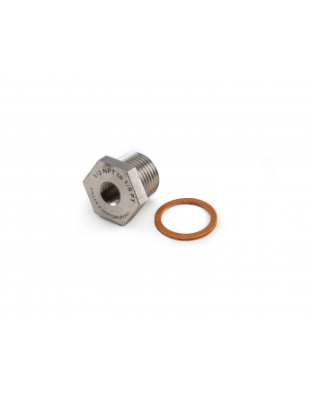 1/2NPT to 1/8PT Oil Temperature Sensor Adapter