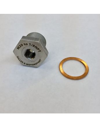 M20 (OEM) to 1/8NPT Oil Temperature Sensor Adapter
