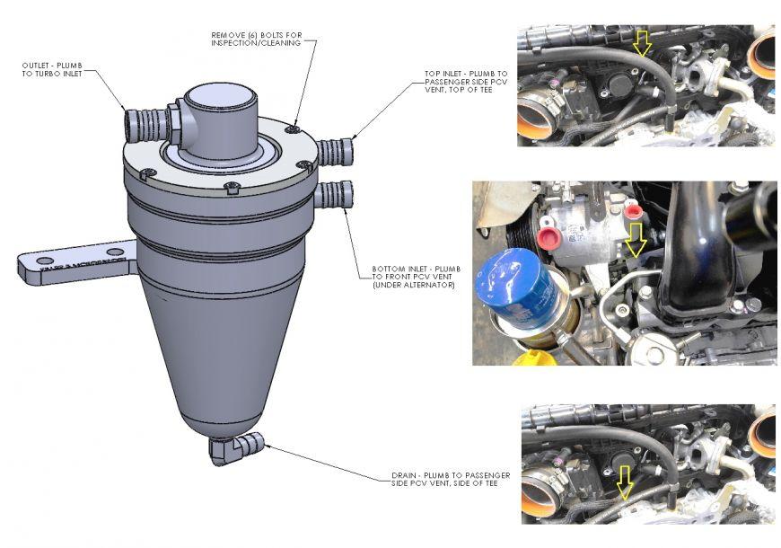 Air Oil Separator 2008 14 Subaru Impreza Wrx 2008 17 Sti
